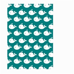 Cute Whale Illustration Pattern Large Garden Flag (Two Sides)