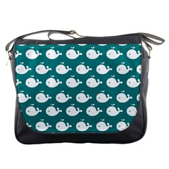 Cute Whale Illustration Pattern Messenger Bags