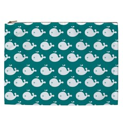 Cute Whale Illustration Pattern Cosmetic Bag (XXL)