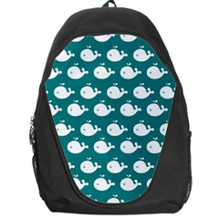Cute Whale Illustration Pattern Backpack Bag