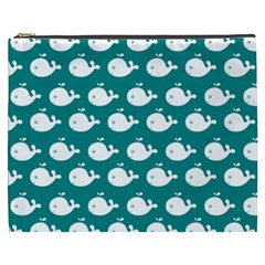 Cute Whale Illustration Pattern Cosmetic Bag (XXXL)