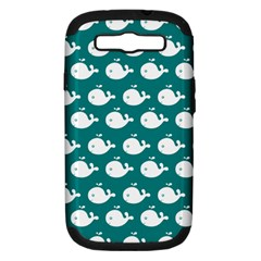 Cute Whale Illustration Pattern Samsung Galaxy S III Hardshell Case (PC+Silicone)