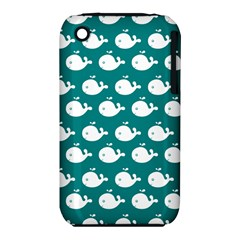 Cute Whale Illustration Pattern Apple iPhone 3G/3GS Hardshell Case (PC+Silicone)