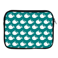 Cute Whale Illustration Pattern Apple iPad 2/3/4 Zipper Cases