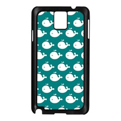 Cute Whale Illustration Pattern Samsung Galaxy Note 3 N9005 Case (Black)