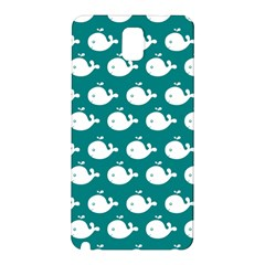 Cute Whale Illustration Pattern Samsung Galaxy Note 3 N9005 Hardshell Back Case
