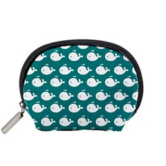 Cute Whale Illustration Pattern Accessory Pouches (Small)
