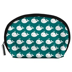 Cute Whale Illustration Pattern Accessory Pouches (Large)
