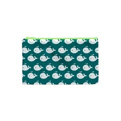 Cute Whale Illustration Pattern Cosmetic Bag (XS)