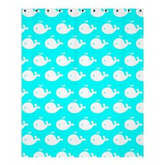 Cute Whale Illustration Pattern Shower Curtain 60  X 72  (medium)