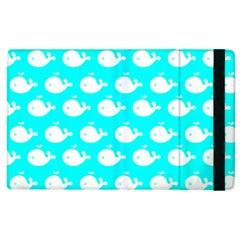 Cute Whale Illustration Pattern Apple Ipad 2 Flip Case by creativemom