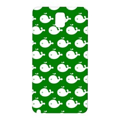 Cute Whale Illustration Pattern Samsung Galaxy Note 3 N9005 Hardshell Back Case by creativemom