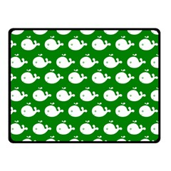 Cute Whale Illustration Pattern Double Sided Fleece Blanket (small)  by creativemom