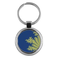 Blue And Green Design Key Chains (round)