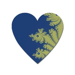 Blue And Green Design Heart Magnet by digitaldivadesigns