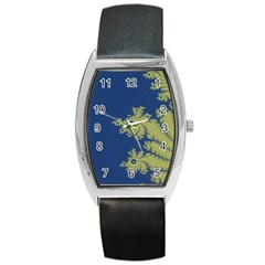 Blue And Green Design Barrel Metal Watches by digitaldivadesigns