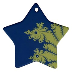 Blue And Green Design Star Ornament (two Sides)  by digitaldivadesigns