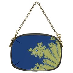 Blue And Green Design Chain Purses (one Side)  by digitaldivadesigns