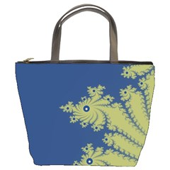 Blue And Green Design Bucket Bags by digitaldivadesigns