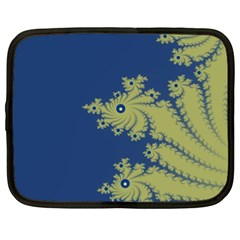 Blue And Green Design Netbook Case (xl)  by digitaldivadesigns