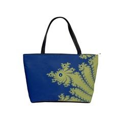 Blue And Green Design Shoulder Handbags by digitaldivadesigns