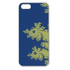 Blue And Green Design Apple Seamless Iphone 5 Case (clear) by digitaldivadesigns