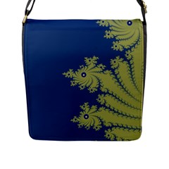 Blue And Green Design Flap Messenger Bag (l)  by digitaldivadesigns