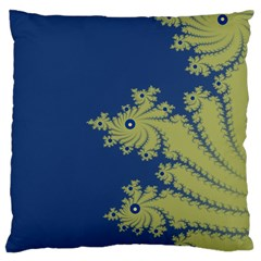 Blue And Green Design Large Flano Cushion Cases (one Side)  by digitaldivadesigns
