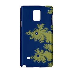 Blue And Green Design Samsung Galaxy Note 4 Hardshell Case by digitaldivadesigns