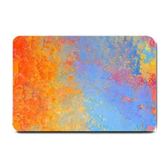 Hot And Cold Small Doormat  by digitaldivadesigns