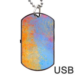 Hot And Cold Dog Tag Usb Flash (two Sides)