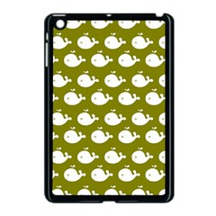 Cute Whale Illustration Pattern Apple Ipad Mini Case (black) by creativemom