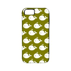 Cute Whale Illustration Pattern Apple Iphone 5 Classic Hardshell Case (pc+silicone)