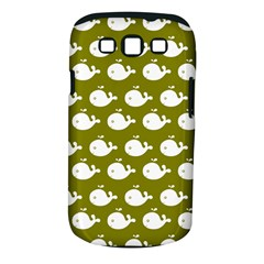 Cute Whale Illustration Pattern Samsung Galaxy S Iii Classic Hardshell Case (pc+silicone)