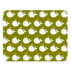 Cute Whale Illustration Pattern Double Sided Flano Blanket (large)
