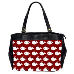 Cute Whale Illustration Pattern Office Handbags (2 Sides)  by creativemom