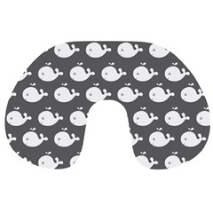 Cute Whale Illustration Pattern Travel Neck Pillows