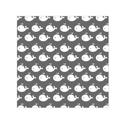 Cute Whale Illustration Pattern Small Satin Scarf (square)  by creativemom