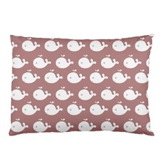 Cute Whale Illustration Pattern Pillow Cases (two Sides) by creativemom