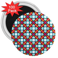 Cute Pattern Gifts 3  Magnets (100 pack)