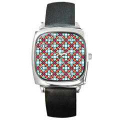 Cute Pattern Gifts Square Metal Watches