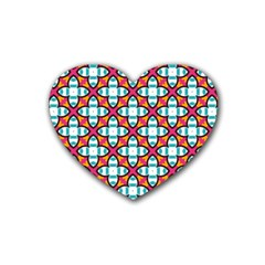 Cute Pattern Gifts Heart Coaster (4 pack)