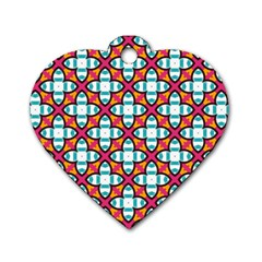 Cute Pattern Gifts Dog Tag Heart (Two Sides)
