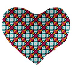 Cute Pattern Gifts Large 19  Premium Heart Shape Cushions