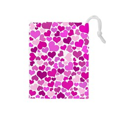 Heart 2014 0931 Drawstring Pouches (medium)  by JAMFoto