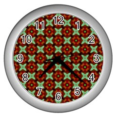 Cute Pattern Gifts Wall Clocks (silver)  by creativemom