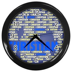 Christian Wall Clocks (black)