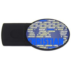 Christian Usb Flash Drive Oval (4 Gb)  by MoreColorsinLife
