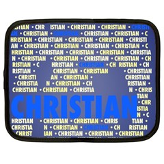Christian Netbook Case (xxl)  by MoreColorsinLife