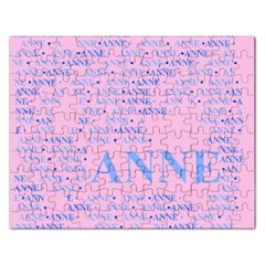 Anne Rectangular Jigsaw Puzzl by MoreColorsinLife